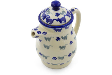 15 oz Creamer with Lid - Cats on Parade | Polish Pottery House