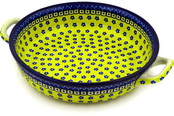 "13"" Round Baker with Handles - Blue Sunshine 
