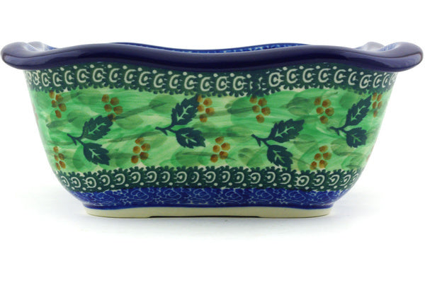 6 cup Serving Bowl - Spring Garden | Polish Pottery House