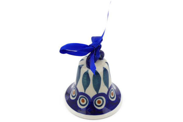 "3"" Bell Ornament - Peacock 