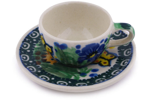"1"" Miniature Cup and Saucer - Spring Garden 