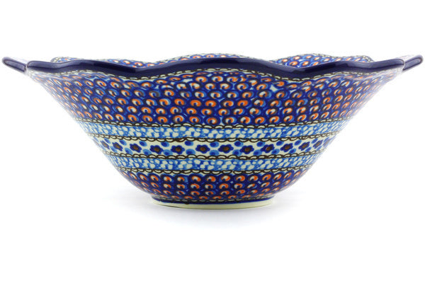 4 cup Serving Bowl - Fiolek | Polish Pottery House