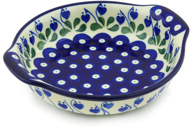 "7"" Round Baker with Handles - Blue Bell 