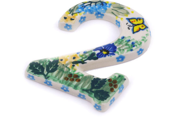 "4"" #2 Number - Spring Garden 