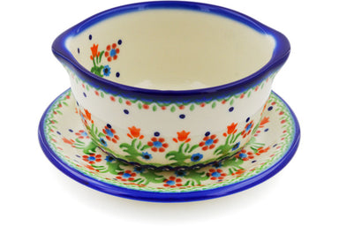 15 oz Soup Cup with Saucer - Spring Has Sprung | Polish Pottery House