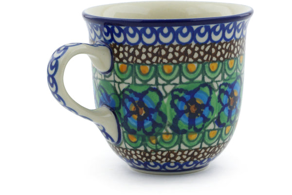 6 oz Cup - Moonlight Blossom | Polish Pottery House
