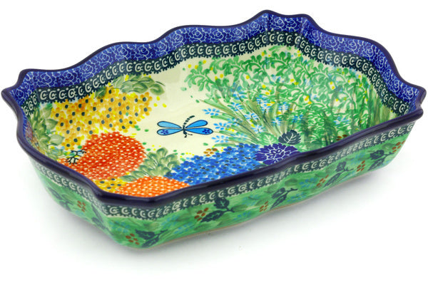 8 cup Scalloped Bowl - Whimsical | Polish Pottery House