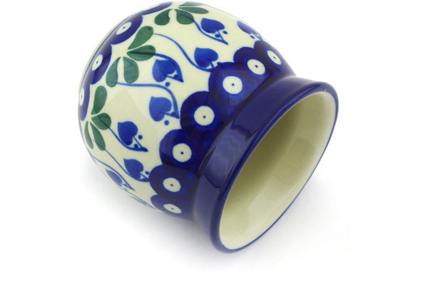 8 oz Bubble Mug without a Handle - Blue Bell | Polish Pottery House