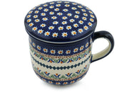 12 oz Brewing Mug - Lotus | Polish Pottery House