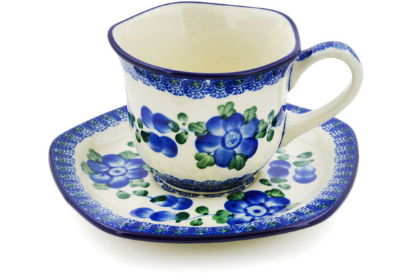 7 oz Cup with Saucer - Heritage | Polish Pottery House