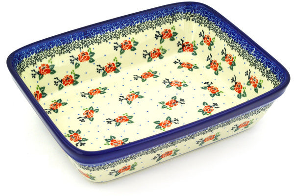 "8"" x 10"" Rectangular Baker - Country Rose 