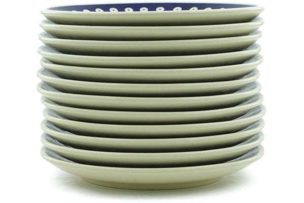 "8"" Set of 12 Salad Plates - Old Poland 