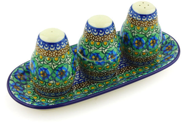 "10"" Salt and Pepper with Toothpick Holder - Moonlight Blossom 