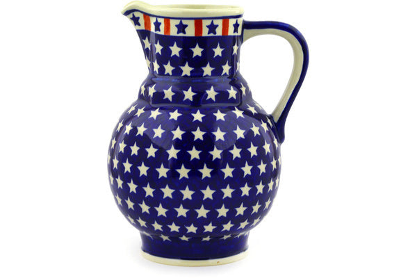 7 cup Pitcher - Americana | Polish Pottery House