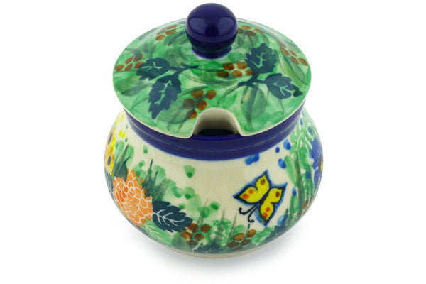 5 oz Sugar Bowl - Spring Garden | Polish Pottery House
