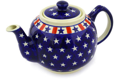 4 cup Tea Pot - Americana | Polish Pottery House