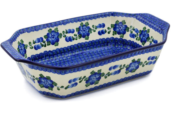 "8"" x 14"" Rectangular Baker with Handles - Heritage 