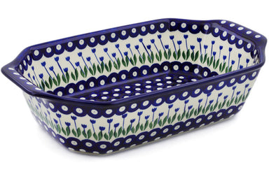 "8"" x 14"" Rectangular Baker with Handles - 377ZX 