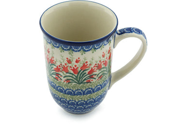 16 oz Mug - Crimson Bells | Polish Pottery House