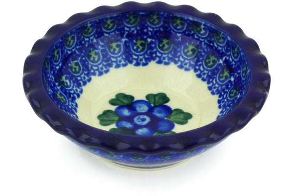2 oz Scalloped Bowl - Heritage | Polish Pottery House