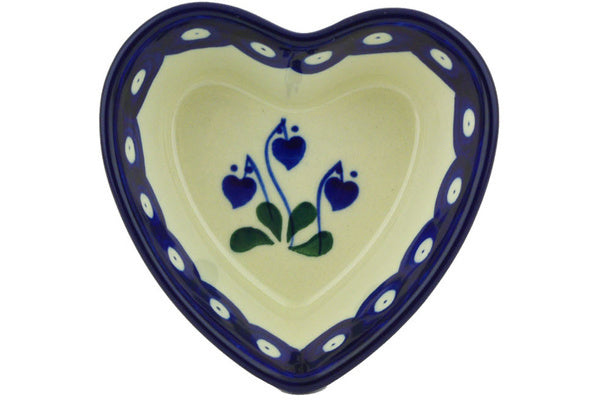 "4"" Heart Bowl - Blue Bell 