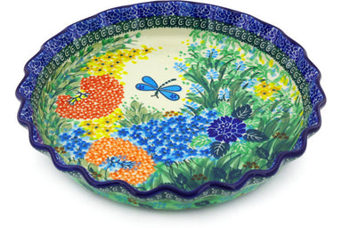 "10"" Fluted Pie Plate - Whimsical 