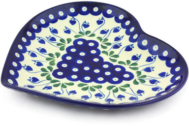 "9"" Heart Platter - Blue Bell 