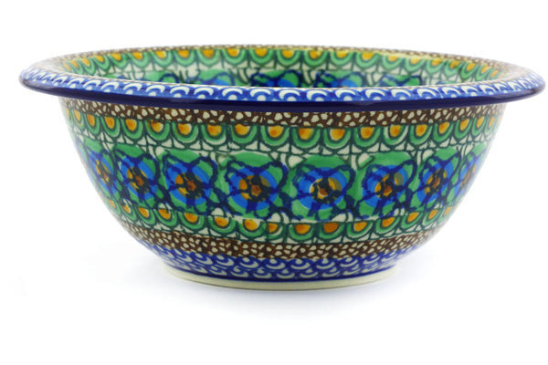 3 cup Serving Bowl - Moonlight Blossom | Polish Pottery House