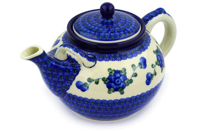 8 cup Tea Pot - Heritage | Polish Pottery House
