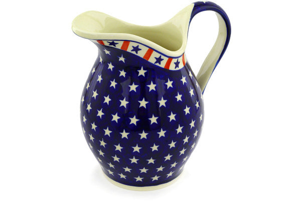 8 cup Pitcher - Americana | Polish Pottery House