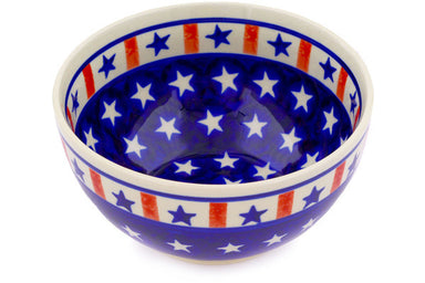15 oz Dessert Bowl - Americana | Polish Pottery House