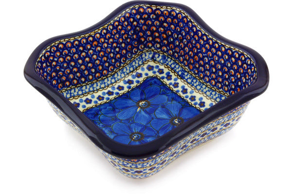6 cup Serving Bowl - Fiolek | Polish Pottery House