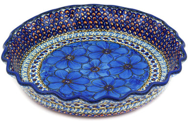 "10"" Fluted Pie Plate - Fiolek 