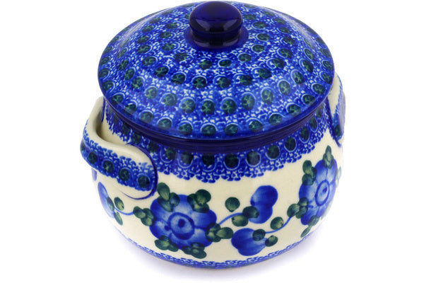 15 oz Soup Cup with Lid - Heritage | Polish Pottery House