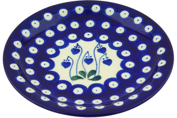 "6"" Bread Plate - Blue Bell 