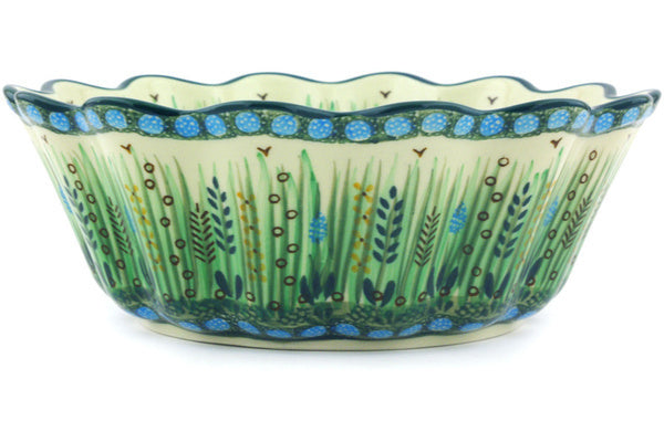 8 cup Scalloped Fluted Bowl - U803 | Polish Pottery House