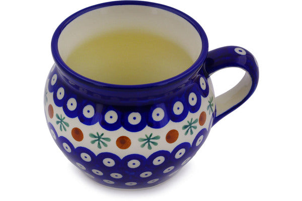 16 oz Bubble Mug - Blue Old Poland | Polish Pottery House
