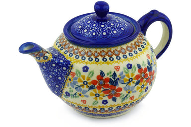 4 cup Tea Pot - DPLC | Polish Pottery House