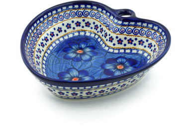 3 cup Heart Bowl - P4527A | Polish Pottery House