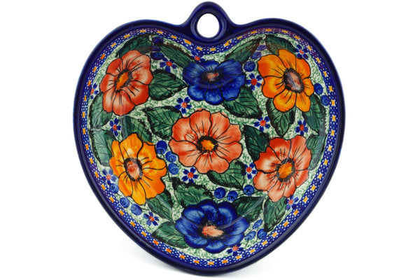 3 cup Heart Bowl - P9425A | Polish Pottery House