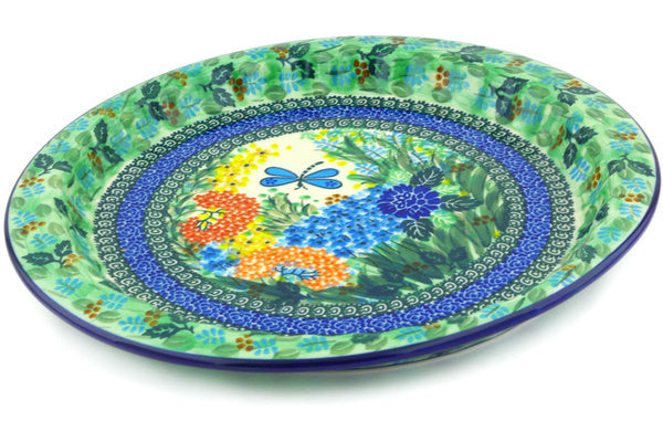 "13"" Fluted Oval Platter - Whimsical 
