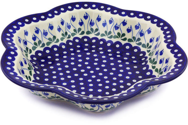 10 cup Serving Bowl - Blue Bell | Polish Pottery House