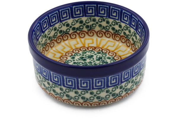 6 oz Condiment Bowl - Blue Autumn | Polish Pottery House