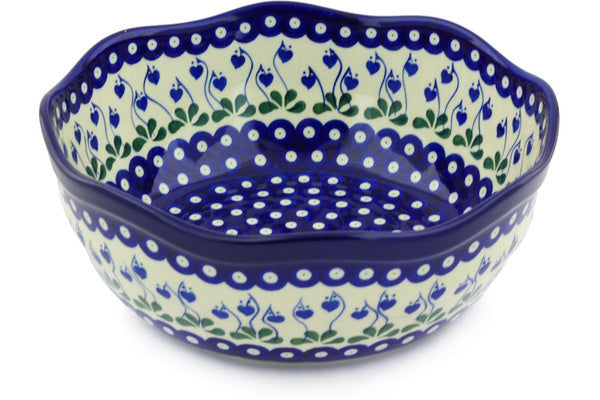 17 cup Serving Bowl - Blue Bell | Polish Pottery House