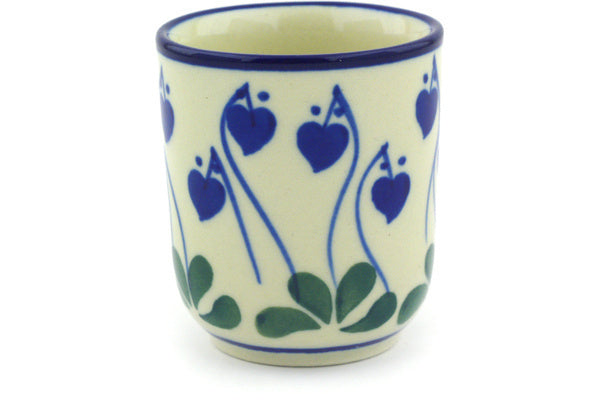 2 oz Espresso Cup - Blue Bell | Polish Pottery House