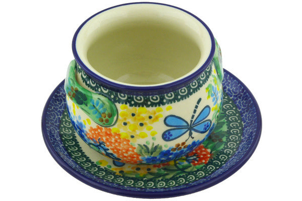 16 oz Soup Cup with Saucer - Whimsical | Polish Pottery House