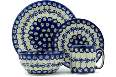 Place Setting - Poppy Peacock | Polish Pottery House