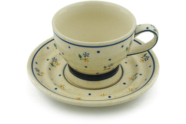 10 oz Cup with Saucer - 111 | Polish Pottery House