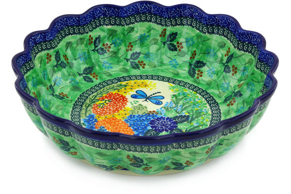 15 cup Scalloped Bowl - Whimsical | Polish Pottery House