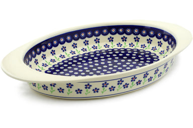 "17"" Oval Baker with Handles - 912 